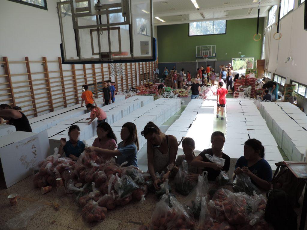 חלוקת חבילות מזון למשפחות נזקקות בקרית טבעון