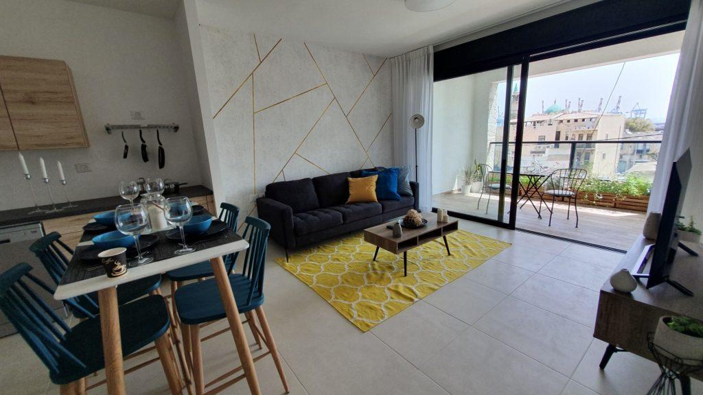 דירה לדוגמא בבניין להשכרה בפרויקט הרובע של חברת גולדן ארט בחיפה