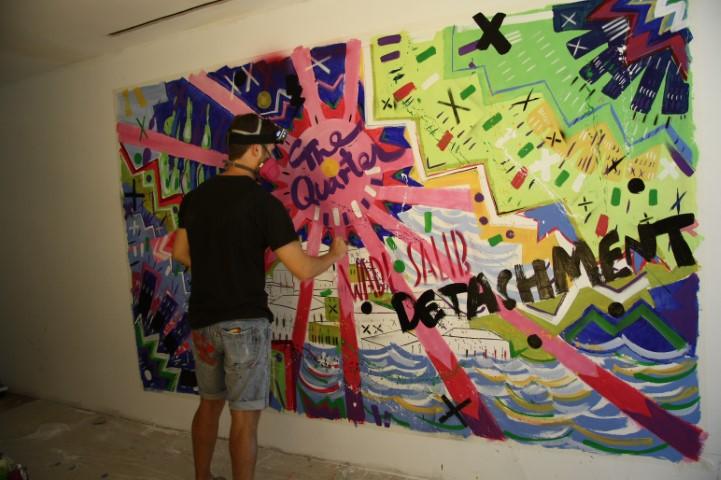 """אמן הפופ ארט הבינלאומי ניקול קלמפרט הגיע לפרויקט """"הרובע"""" בואדי סאליב"""