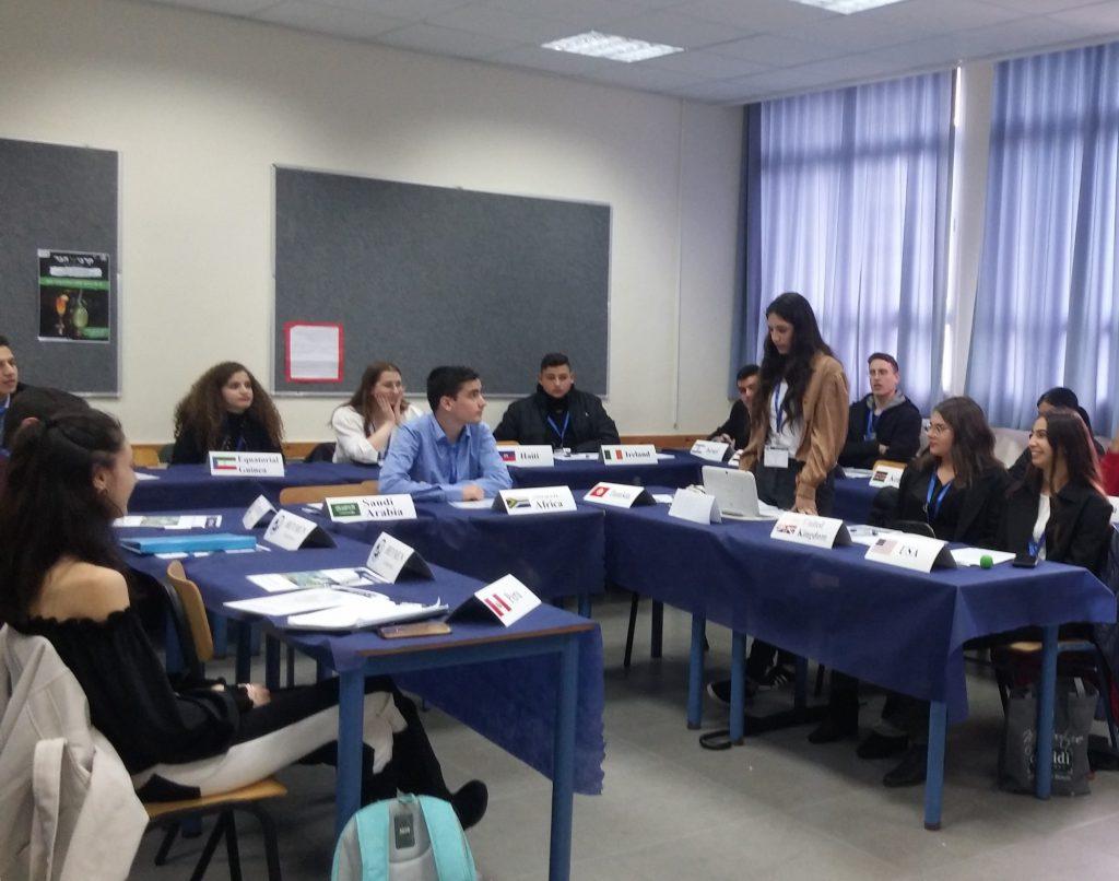 """דיפלומטים לעתיד מכל רחבי הארץ התכנסו בעירוני ה' לכנס """"מודל האו""""ם"""""""