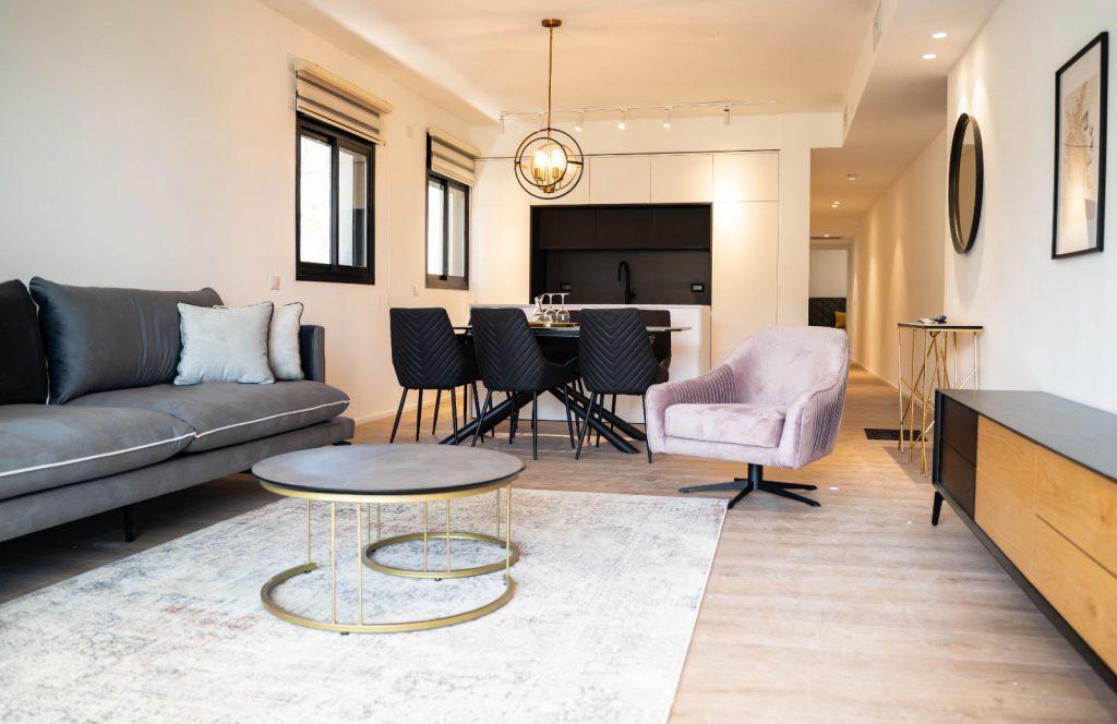 דירה לדוגמא בבניין למכירה בפרויקט הרובע של גולדן ארט בחיפה